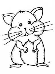 Kleurplaten Hamster Hamster Knaagdieren Huisdieren Hamstertje