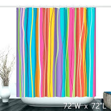 colorful shower curtain curtains beautiful striped bathroom rings multi colored