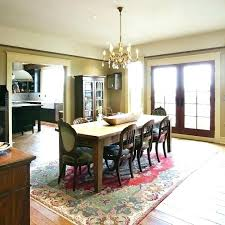what shape area rug under oval dining table or not my room size round kitchen delectable