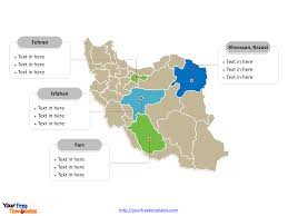 free editable maps free iran editable map free powerpoint templates