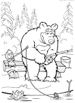Раскраски а4 маша и медведь распечатать
