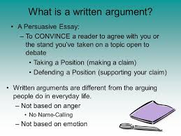writing effective arguments what is a written argument what is a  2 what