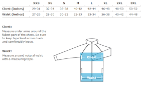 Apparel Sizing Information