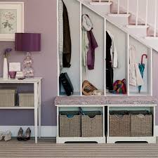 Epic Design Ideas using Round Purple Desk Lamps and Rectangular Brown Storage  Boxes also with Rectangular white Wooden shelves