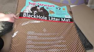 best litter mat ever ft blackhole dual structure litter mat you