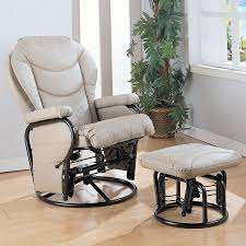coaster fine furniture modern bone faux leather glider chair