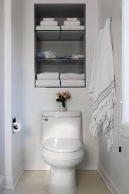 Fantastic Bathroom Features Recessed Shelves Over The Toilet Fascinating Inset Bathroom Cabinets Interior