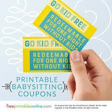 Go Kid Free Babysitting Coupon Free Printables Online