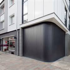 sliding garage doorSliding garage doors  wooden  automatic  curved  THE RETAIL