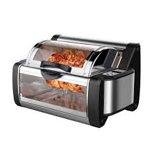 details about nutrichef pkrtvg65bk digital countertop rotisserie grill oven rotating cooker