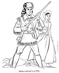 Small Picture Settlers Go West history coloring page for kids 030 Homeschool