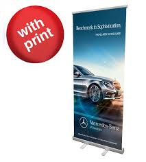 Pull Up Display Stands Simple Retractable Roll Up Banner Stand 32 With Vinyl Print