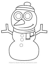 drawn snowman line drawing 5