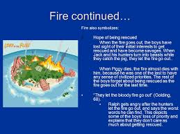 lord of the flies symbolism ppt video online 3 fire continued
