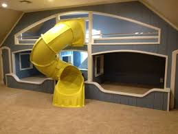 Image of: Dunce Bunk Bed with Slide