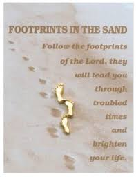brooch footprints in the sand
