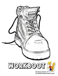 Tractor Coloring Page of Farmers Work Boot. You Can Print This ...
