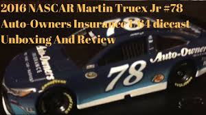 2016 nascar martin truex jr 78 auto owners insurance 1 64 cast unboxing and review