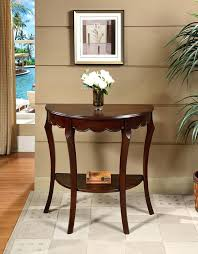 half round console tables table adds flair to the living room interior brown target half round console tables