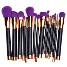 luckyfine 12pcs professional makeup brush set foundation cosmetic powder multifunction toiletry brushes make up brushing kit
