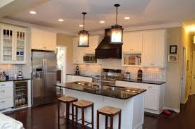 magnificent kitchens with islands. Magnificent Efficient Kitchen Layouts : Contemporary White Cabinet With Black Stone Granite Countertops And Two Kitchens Islands