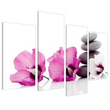 large pink flower floral canvas wall art pictures 130cm set xl 4069 amazon uk kitchen home on canvas wall art pink flowers with large pink flower floral canvas wall art pictures 130cm set xl 4069
