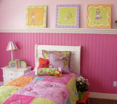 ... Excellent Decorating Ideas For Toddler And Little Girls Bedroom : Fancy  Pink Grooved Plank Walls And ...