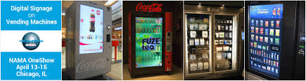 Charge On The Go Vending Machines Custom Digital Signage On Vending Machines NAMA OneShow