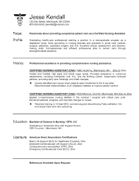 Free Sample Resume Certified Nursing Assistant New Objective For
