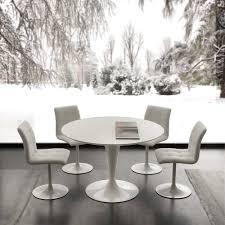 round topeka white top quartz table
