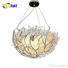 fumat led bird s nest pendant lights personalized modern simple balcony living room children bedroom lighting lampara colgante multi light pendants