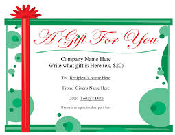 Free Christmas Voucher Template Microsoft Christmas Gift Certificate Templates Best Free Printable 1