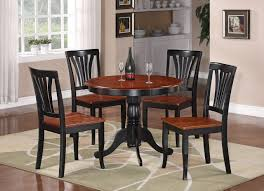 10 photos to round black kitchen table and chairs