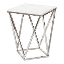 alturas side table silvermarble  achica