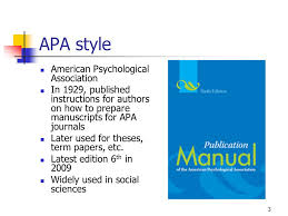 american phsycological association american psychological association reference style college paper