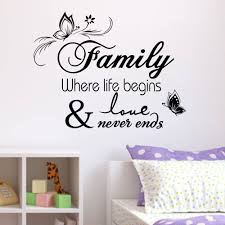 butterfly family removable wall stickers decal quotes art home decor diy vinyl ebay on wall art stickers quotes ebay with butterfly family removable wall stickers decal quotes art home decor