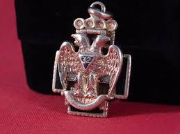 gold 32nd degree masonic scottish rite folding pendant watch fob 1899219554
