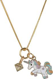 Arendelle <b>Unicorn</b> and <b>Diamond</b> Charm Pendant Set for Girls ...