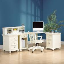 white office corner desk. Classic White Lacquer Oak Wood Corner Computer Desk With Short Round Legs And Shelf Also Drawers Office