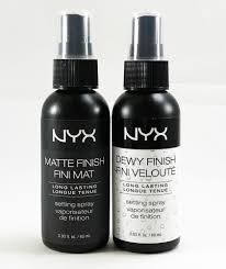 dels about nyx makeup setting spray long lasting matte finish dewy finish