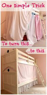 Simple No-Sew Bunk Bed Tent | Ultimate Kids Board | Pinterest | Bunk ...