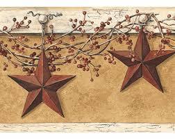 country hanging star wallpaper border