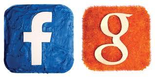 social media logos. social media logos made out of food, i think
