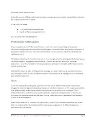 Sample Employee Review Forms Annual Performance Wording