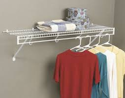 Shelf design allows garments to move freely on rod Includes 2