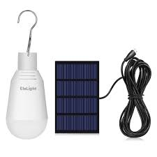 Small Solar Panels For Lights Elelight Portable Solar Led Light Bulb With Solar Panel Hanging Rechargeable Solar Powered Lamp Lighting For Home Emergency Outdoor Hiking Camping