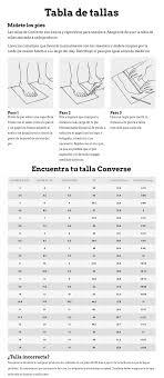 Converse Chuck Taylor All Star Size Chart