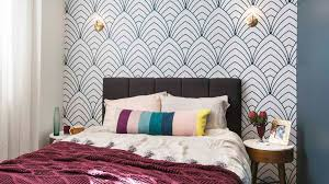 dan and carleens controversial guest bedroom sported some gold bronte look alike wall lights