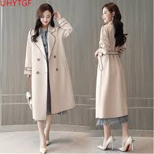 best quality autumn fashion trench coat for women long sleeve trench coat plus size long coats