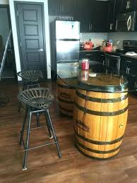 whiskey barrel table and stools jack bar medium size of aluminum best ideas on with barrels vintage whiskey barrel